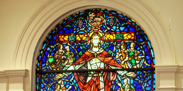 image stained glass in Worship