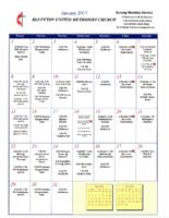 BUMC Newsletter January 2017