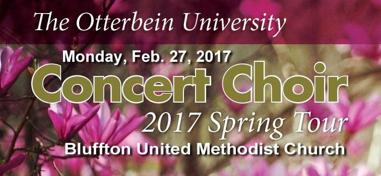 Otterbein University Concert Choir Performs at BUMC – Monday, February 27, 2017