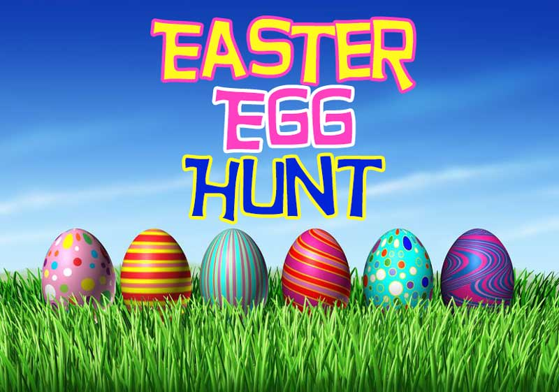 Easter Egg Hunt April 1st at 4 PM