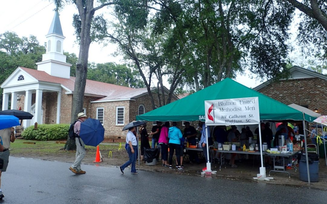 Bluffton UMC at the Rainy Mayfest 2017