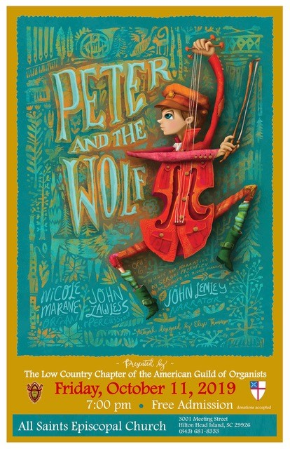 Peter and the Wolf at All Saints Episcopal Church October 11 at 7 PM