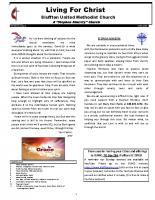 BUMC April 2020 newsletter